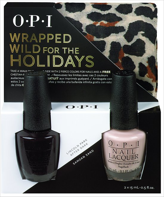 OPI Wrapped Wild for the Holidays Lincoln Park After Dark and Samoan Sand