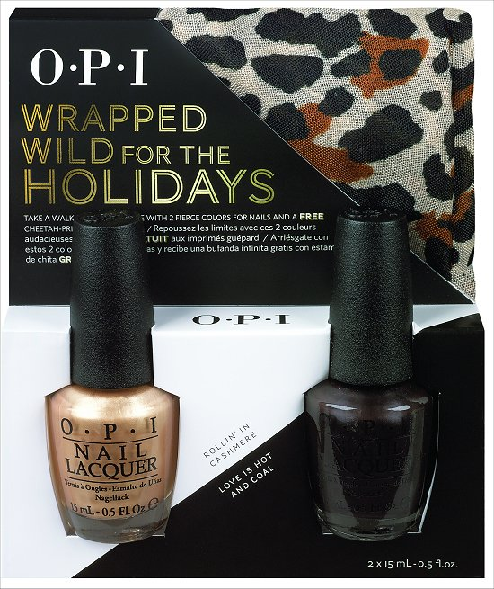 OPI Wrapped Wild for the Holidays Rollin' in Cashmere and Love is Hot and Coal