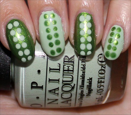 Nail Art Green Dotticure Opi My Gecko Does Tricks Amp Opi That S Hula Rious Swatch And Learn