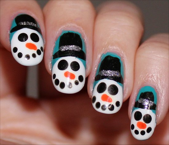 Snowman Nail Art Nails Tutorial
