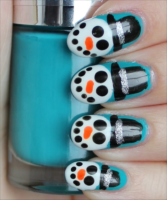 Snowman Nail Art Tutorial