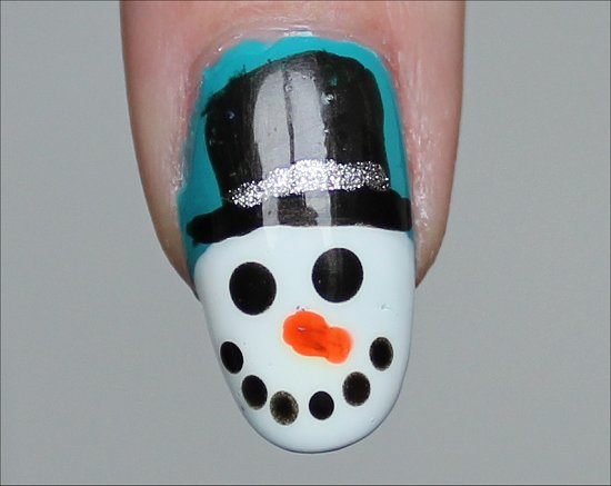 Snowman Nails Nail Art Tutorial