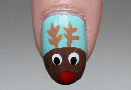 Rudolph Nails Reindeer Nails