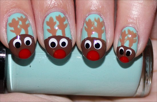 Rudolph Reindeer Nails