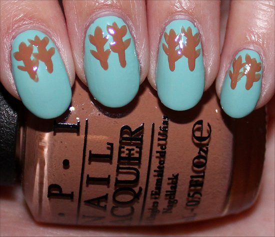 Rudolph the Red-Nosed Reindeer Nail Art Tutorial Step 3