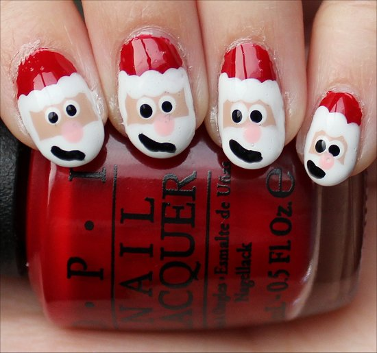 Santa Claus Nail Art Nail Tutorial