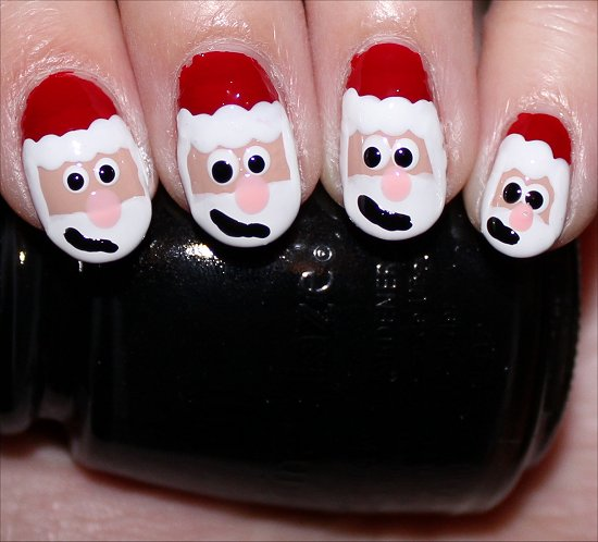 Santa Claus Nail Art Tutorial Step 10