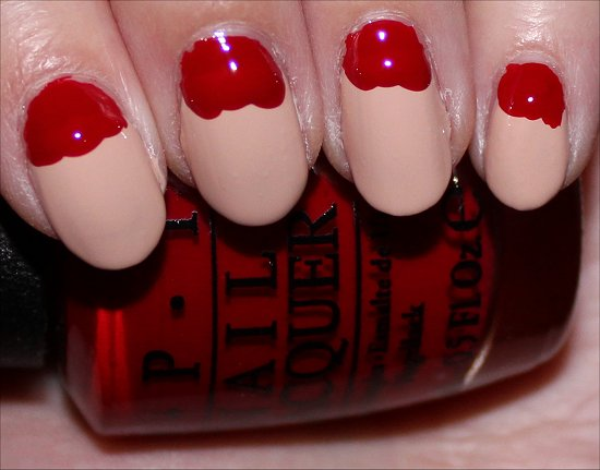 Santa Claus Nail Art Tutorial Step 3