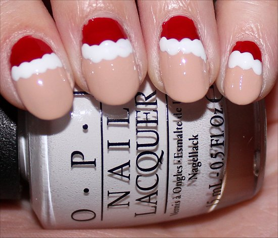 Santa Claus Nail Art Tutorial Step 4