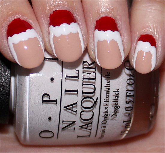 Santa Claus Nail Art Tutorial Step 5