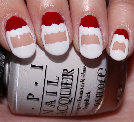 Santa Claus Nail Art Tutorial Step 6