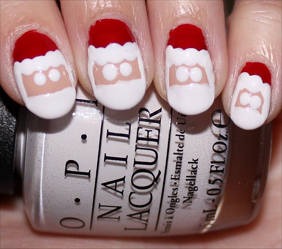 Santa Claus Nail Art Tutorial Step 7