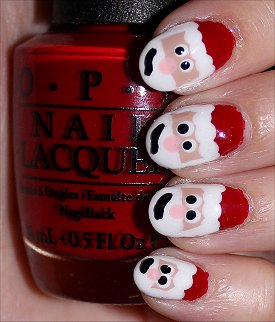 Santa Claus Nail Art Tutorial