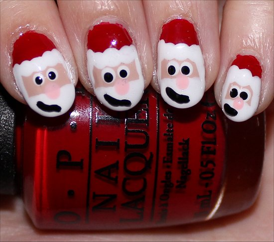 Santa Claus Nails Nail Art