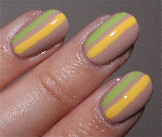 Striped Nail Art Nicole by OPI Tutorial