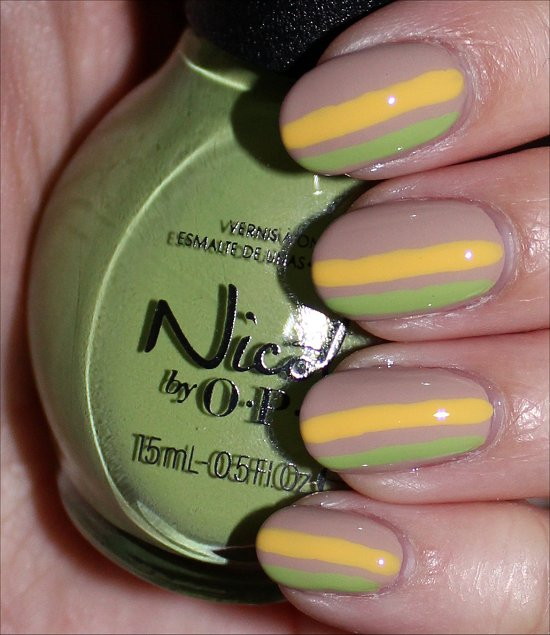 Striped Nail Art Tutorial & Pictures