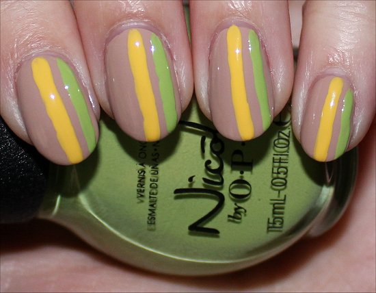 Striped Nail Art Tutorial SwatchAndLearn Step 4