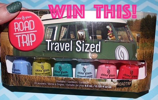 China Glaze Road Trip Travel Sized Mini Set Worldwide Giveaway