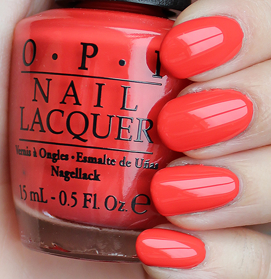 OPI Aloha from OPI Swatches & Review
