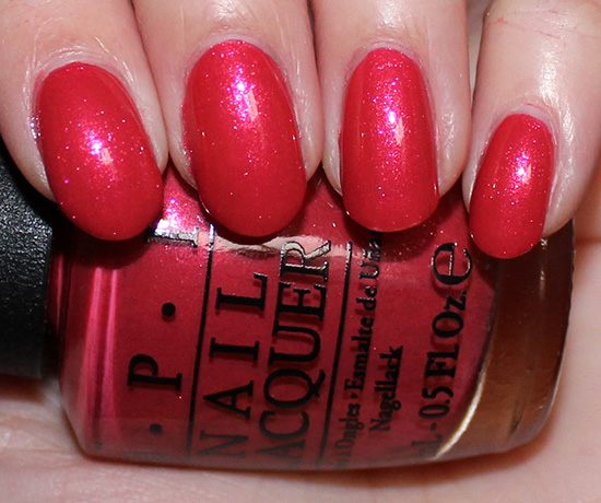 OPI Go with the Lava Flow Swatch & Photos