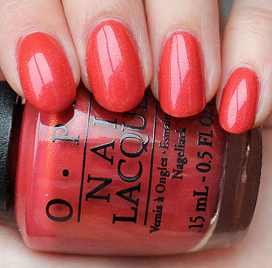 OPI Go with the Lava Flow Swatch & Review