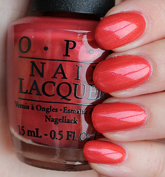 OPI Go with the Lava Flow Swatches & Review
