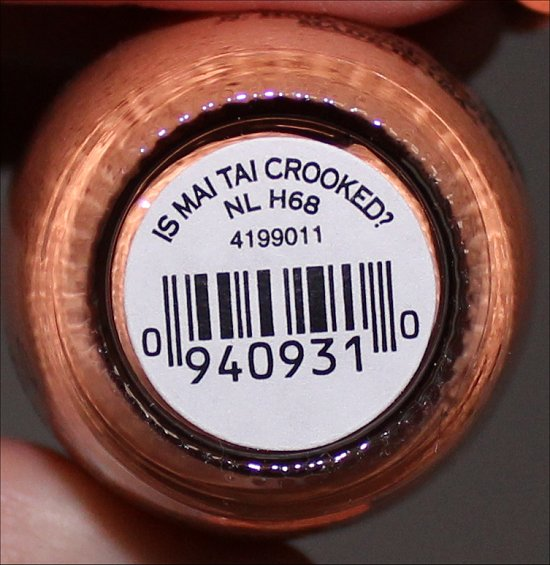 OPI Is Mai Tai Crooked OPI Hawaii Collection