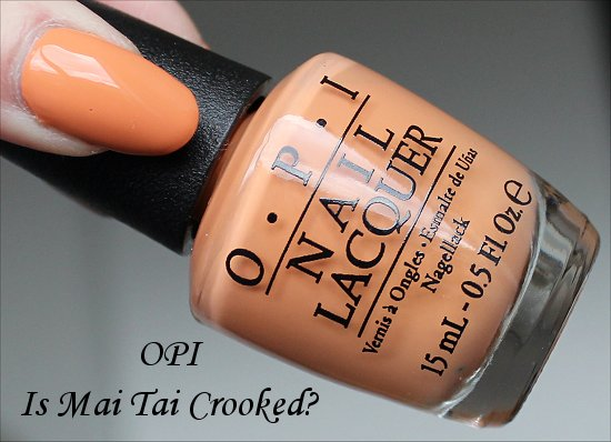 OPI Is Mai Tai Crooked Swatch Hawaii Collection Swatches