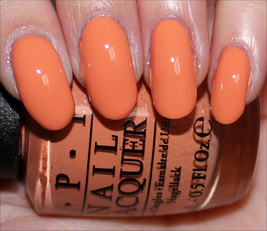 OPI Is Mai Tai Crooked Swatches OPI Hawaii Collection Swatch