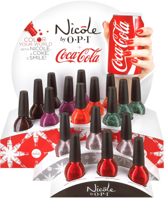 Nicole by OPI Coca Cola Collection Swatches & Photos