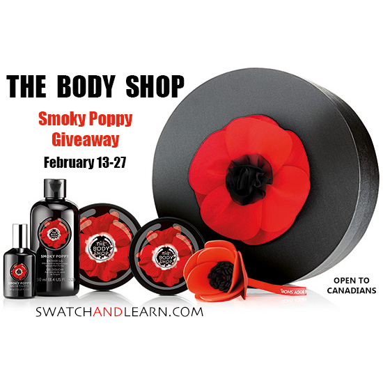 The Body Shop Smoky Poppy Giveaway Swatch And Learn