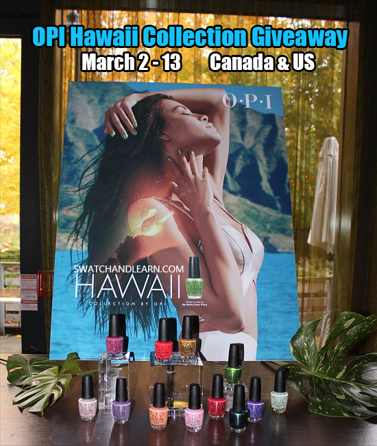 OPI Hawaii Collection Giveaway