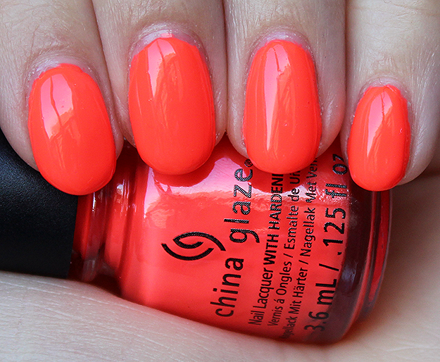 China Glaze Red-y to Rave Swatch & Review