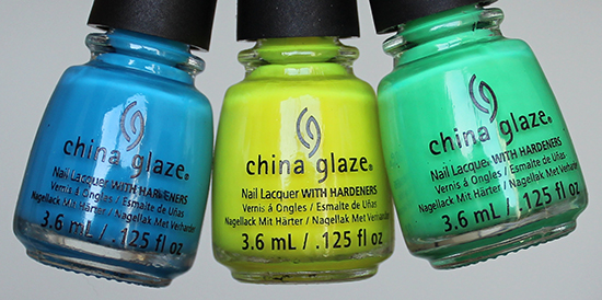 China Glaze Electric Nights Collection 2015