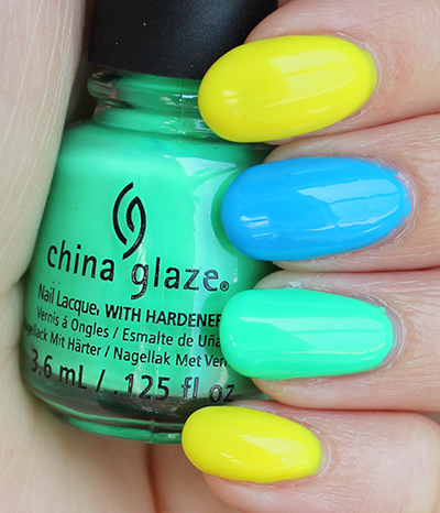 China Glaze Electric Nights Nail Art