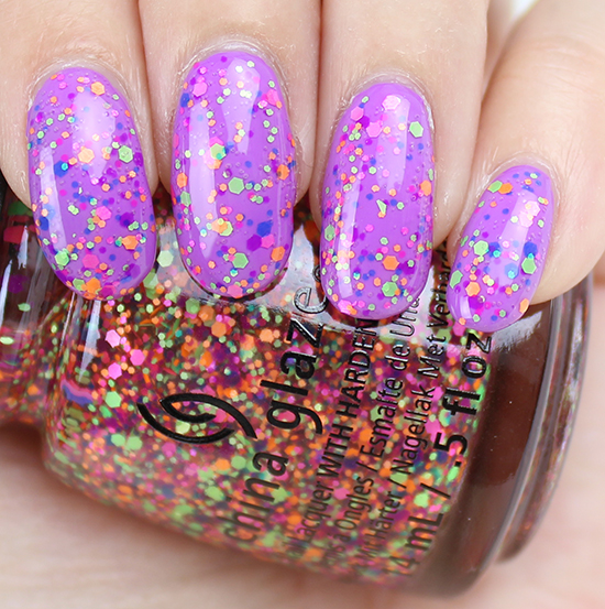 China Glaze Electric Nights Point Me to the Party Swatch
