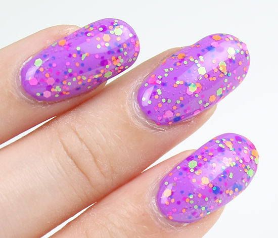 China Glaze Point Me to the Party Swatch Electric Nights Swatches