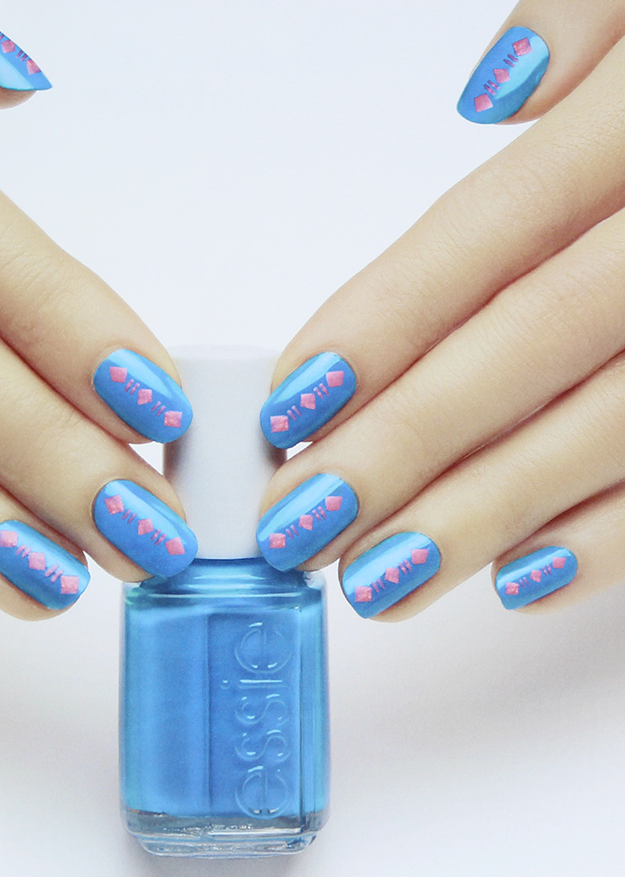 Essie Neon 2015 Collection Tribal Beat Nail Art