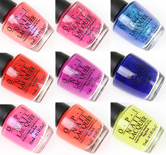 OPI Brights Collection 2015 Pictures
