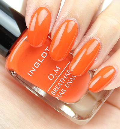INGLOT O2M Breathable Nail Enamel 618 Swatches & Review