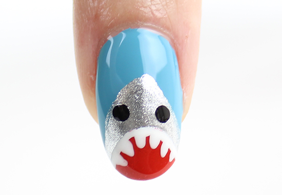Shark Nail Art Nails