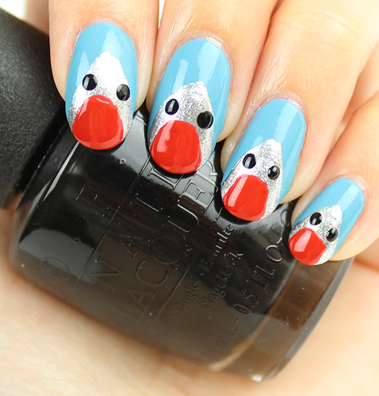 Shark Nail Art Tutorial 4