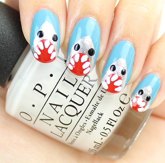Shark Nail Art Tutorial 5