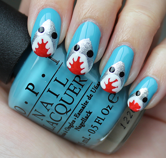Shark Nails Nail Art Tutorial