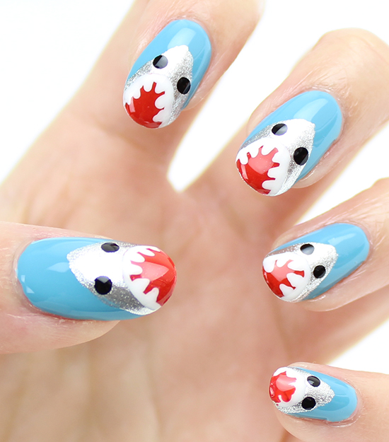 Shark Nails NailArt