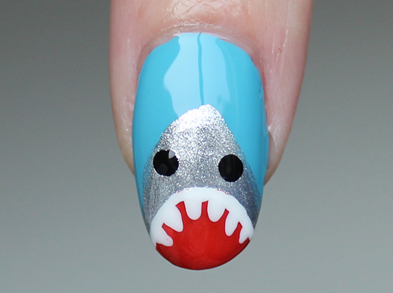 Shark Week Nail Art