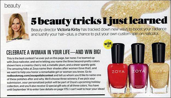 Enter the Redbook Contest for Your Chance to Name a Zoya Nail Polish ...