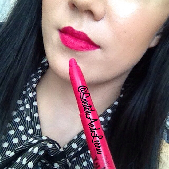 Maybelline Color Blur Matte Pencil Berry Misbehaved Swatch