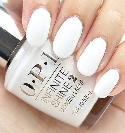OPI Infinite Shine Non-Stop White Swatches & Review