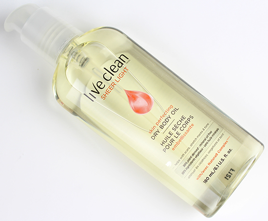 Live Clean Sheer Light Skin Perfecting Dry Body Oil Review